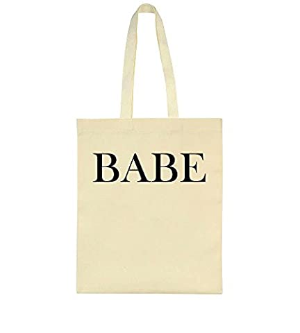 Babe. Dedicated Design Toile Sac Fourre-tout Tote Bag