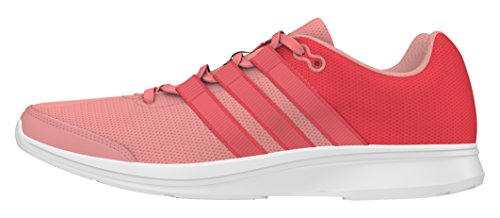 adidas Lite Runner, Chaussures de Running Entrainement Femme Rouge (Shock Red/Shock Red/Ray Pink)