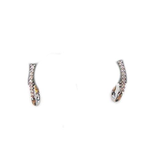 Recarlo - Orecchini pendenti Recarlo oro bianco 18 kt carati con diamanti