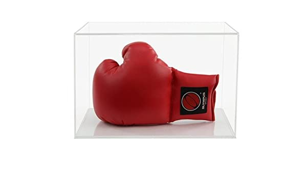 Widdowsons écran Cases Gant de boxe portables d'affichage avec une base Noir Plat horizontal, acrylique, 35.6x 25.6x 23.1cm