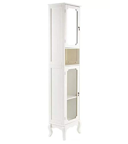 Generic Schrank aus Glas mit Furnschliff, G hoch, französischer Schrank im Shabby-Chic-Stil, Möbelaufbewahrung