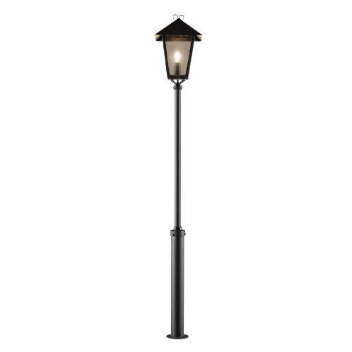 Konstsmide Benu 437-750 Standleuchte / B: 36cm T: 36cm H: 254cm / 1x100W / IP23 / lackiertes Aluminium / matt-schwarz