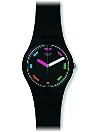 Swatch Herren-Armbanduhr Analog Quarz Silikon GB289