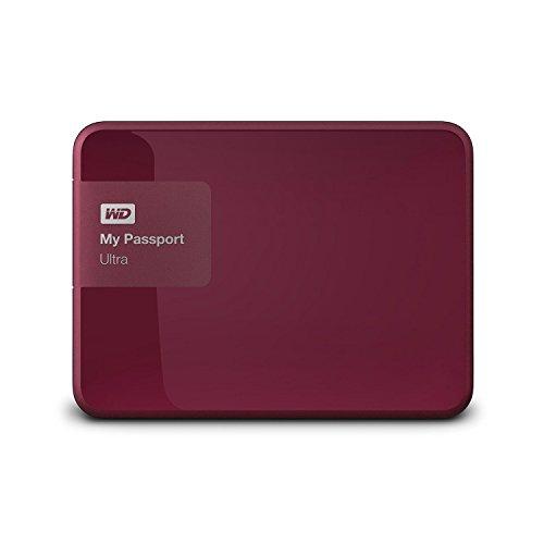 Western Digital My Passport Ultra 3 TB Externe Festplatte (bis zu 5 Gb/s, USB 3.0) wildkirsche