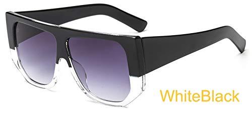LKVNHP Sterne Leuchten Kunststoffrahmen Festival Celebrity Shield Übergroße Sonnenbrille Damen Mode Frauen Brille Uv ProtectorWTYJ038 Weiß c3