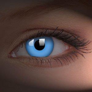 rbige Kontaktlinsen ohne Stär- Leuchten unter UV-Licht von Funky Vision-gefärbte Kontaktlinsen blau 83021 (Funky Halloween-rezepte)
