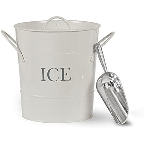 Acero cubo de hielo, tiza
