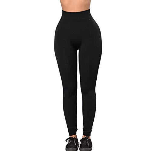 Solid Color-leggings (Sexy Lingerie Tight Leggings Casual Sports Leggings Yoga Solid Color Tight Leggings 79949BlackL)