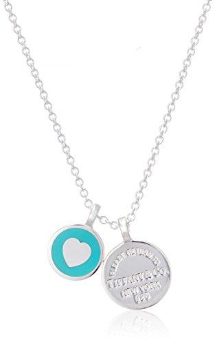 [[] Tiffany Tiffany Return to Tiffany doppio pendente tondo in argento mini...