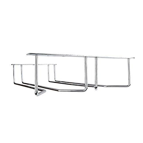 Plantex Planet Wine Glass Rack/Holder Upside Down Glass Hanging Organizer for Pubs/Kitchen / Bars (Double Line - Regular)