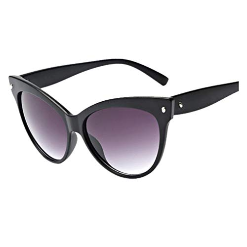 Dorical Damen Sonnenbrillen, Katzenaugen kleine ovale Sonnenbrille für Frauen Retro Metallrahmen...