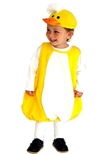 M - Karnevals-Kostüm-Küken für Kinder und Mädchen - 3-5 Jahre - 110-120 cm (Baby Küken Halloween Kostüme)