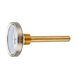 Termómetro bimetálico con vaina, conexión posterior 1/2″; 0 a 500 ºC