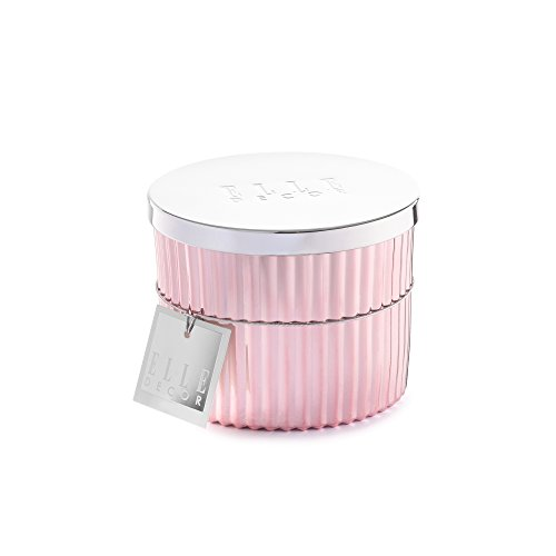 Elle Décor gefüllt Kerze Metall Lid-Peach und Red Currant, Kupfer Peach Leuchter