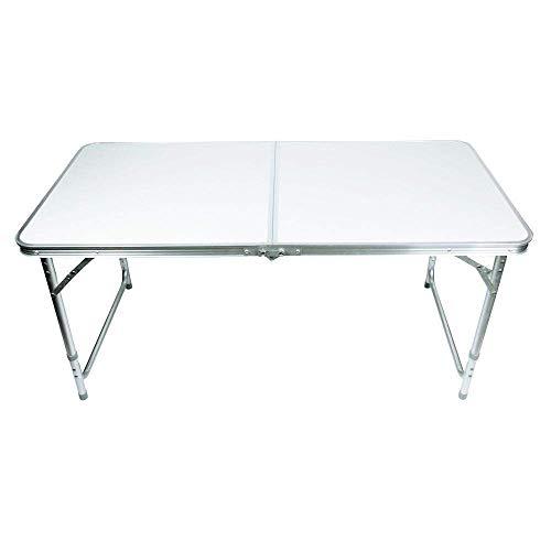 Lospu HY Portable Campingtisch aus Aluminium Gartentisch Höhenverstellbarer Klapptisch Koffertisch...