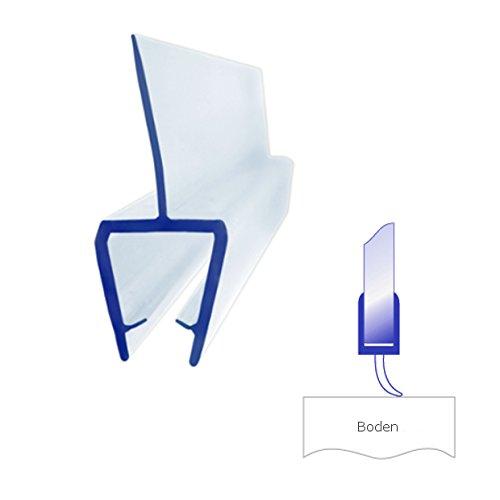 Bagnoxx 1x Duschdichtung mit Lippe für Glasstärke 6 mm Länge 100 cm Duschprofil Duschlippe PVC