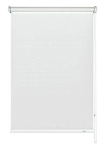 GARDINIA Seitenzug-Rollo zum Abdunkeln, Decken-, Wand- oder Nischenmontage, Lichtundurchlässig, Alle Montage-Teile inklusive, Weiß, 112 x 180 cm (BxH)