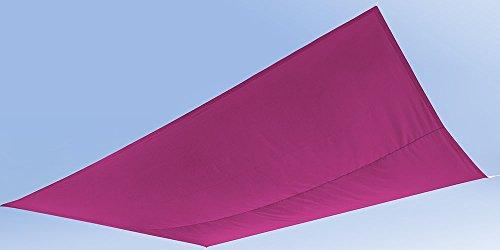 Ideanature Sonnensegel aus Segeltuch, rechteckig 2,45x 3,45m Polyester wasserabweisend Anti-UV...