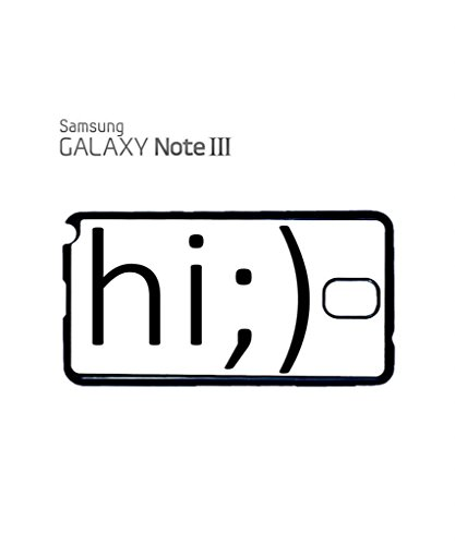 Hi Blink Smiley Face Troll Mobile Cell Phone Case Samsung Galaxy S4 Mini Black Blanc