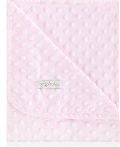 pirulos 64005104–Decke doppelseitig, 80x 110, Design Dots, Farbe Rosa