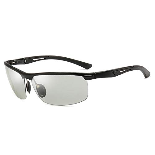 LXC Men ' S Sonnenbrillen, New Men ' S Automatik Photochromic polarisierte Aluminium-Magnesium-Sonnenbrille Outdoor Sports Cycling Sonnenbrille,a