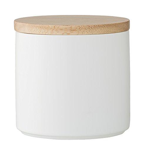 Bloomingville Dose mit Bambusdeckel, weiß