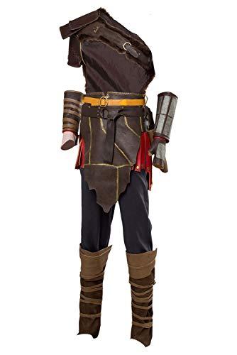 MingoTor Superheld Superhero Suit Cosplay Kostüm Herren (Kratos Cosplay Kostüm)