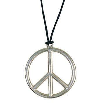 Kette Peace-Zeichen aus Metall, Ø 5cm PREISHIT