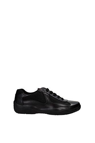 Prada scarpe sneakers uomo in pelle nuove nevada bike nero EU 42 4E2043 O0V F0002
