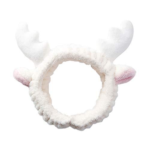 Republe Katze-Ohr-Stirnband Frauen Mädchen Velvet Antlers Haarband Kopfbedeckung Weihnachten Kopfschmuck Gesicht waschen