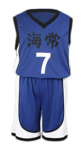Kostüm School Japanese Boy - Chong Seng CHIUS Cosplay Costume Jersey Set for Kaijou High School No. 7 Kise Ryouta V1