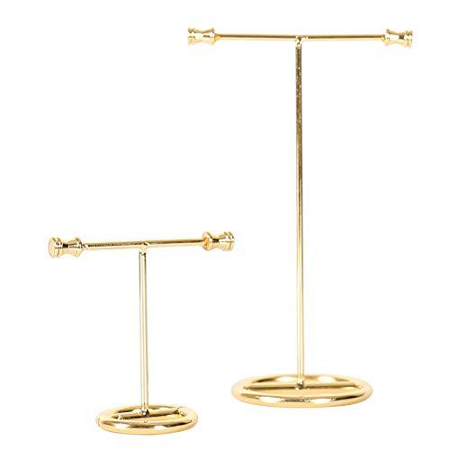 Weike Albero Porta Gioielli in Metallo Espositore per Gioielli per Collane Braccialetti Orecchini Oro Set di 2 (Grande + Piccolo)