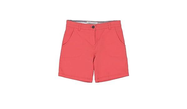 51652c0fdf Brakeburn Ladies Plain Coral Classic Chino Shorts Coral 10: Amazon ...