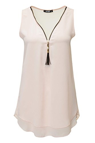Hailys Damen Top Blusentop Bluse Blusenshirt Shirt (M, Rose)