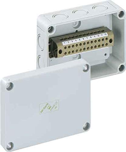 elektro klemmleiste Spelsberg Reihenklemmengehäuse 15P, 130 x 94 x 57 mm, IP66, RKK 4/15-15 x 4, 1196205