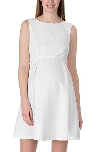 bellybutton Damen Umstandskleid Kleid Ohne Arm Eventkleid Brautkleid Hochzeitskleid (34, Champagne)
