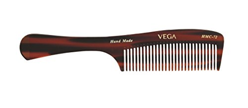 Vega Tortoise Shell Grooming Comb, Brown