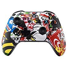 Sticker Bomb Xbox One S/X Rapid Fire Custom Modding Controller 40 Mods für Alle Major Shooter Spiele 2. Weltkrieg (mit 3,5 Klinke)