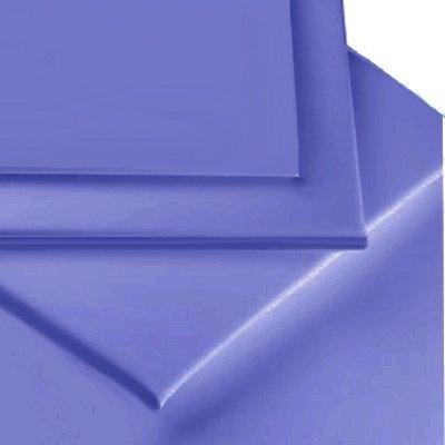 Linens Limited - Cubre canapé para cama de matrimonio (135 x 190 cm, percal de algodón de 180 hilos), color azul