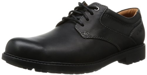 Clarks - Scarpe sportive Redworth Day, nero (Schwarz (Black Leather)), 44.5