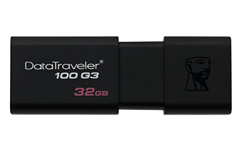 Kingston DT100G3/32GB - Memoria USB USB 3.0, 32 GB, color negro