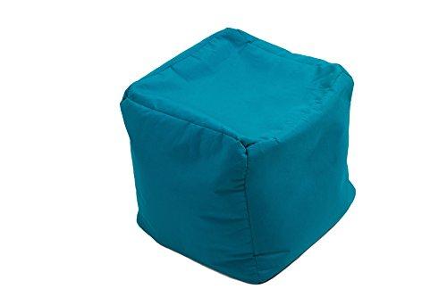 Jumbo Bag 30160-34 Repose Pieds Cube Polyester Bleu Pétrole 40 x 40 x 40 cm