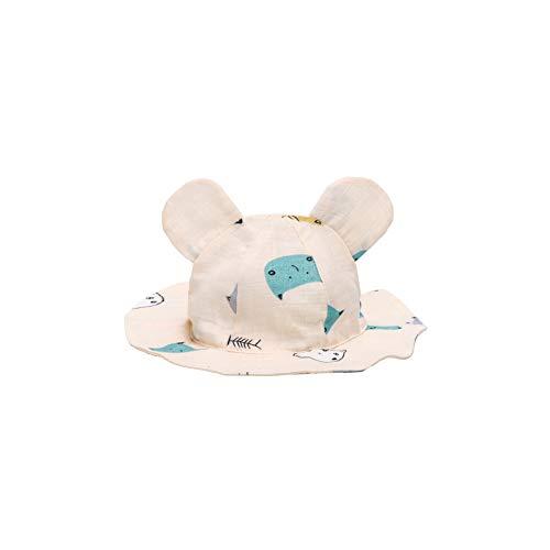 1PC Baby-Breath Sonnenhut Bucket Hat Brim Bucket Hats UV-Schutz Mütze mit Hasenohren S Katze