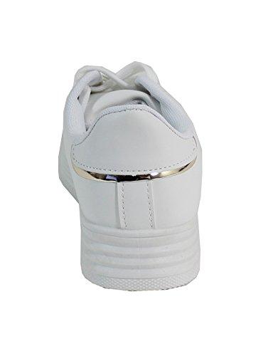 Tennis Avec Plateforme - No Name - Spéciale Été All White