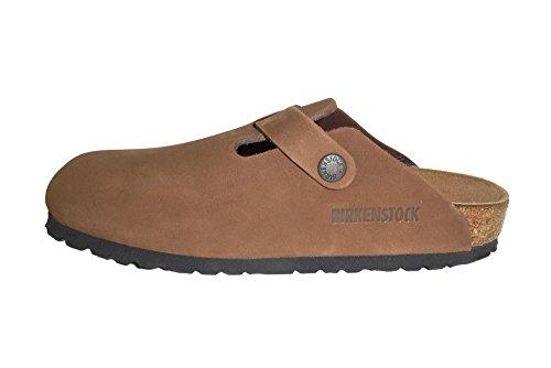 BIRKENSTOCK Boston 159603 Nubukleder Cacao scarpe donna pelle Nubuck Cacao