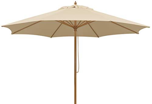 Schneider Sonnenschirm Malaga, natur, 300 cm rund, Gestell Aluminium/Stahl, Bespannung Polyester, 8 kg -