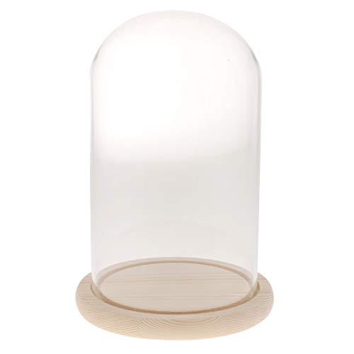 Sophie Allport Mini campana de cristal con base de madera