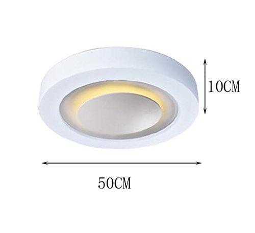 popahome Moderne minimalistische Wohnzimmer Schlafzimmer Kreative Atmosphäre Runde Acryl LED Decke ( Farbe : Straight Edge-50 cm ) (Farbe Straight Edge)