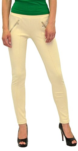 by-tex Damen High Waist Hose Stretch Röhrenhose Damen High Waisted Hose bis Übergröße 48, 50, 52, #J189 L14-beige