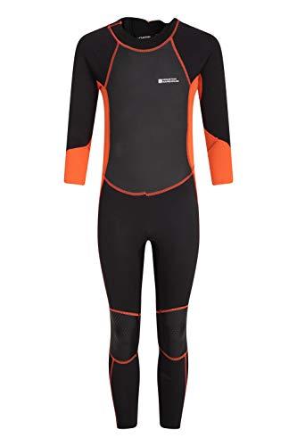 Mountain Warehouse Combinaison de plongée Enfants - Protection Solaire UPF50+, néoprène, Coutures Plates et glissière Facile - Idéale pour Le Kayak, la plongée Orange 11-12 Ans